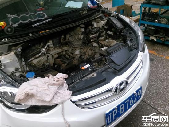 北京现代朗动发动机漏防冻液缸盖缸体变形
