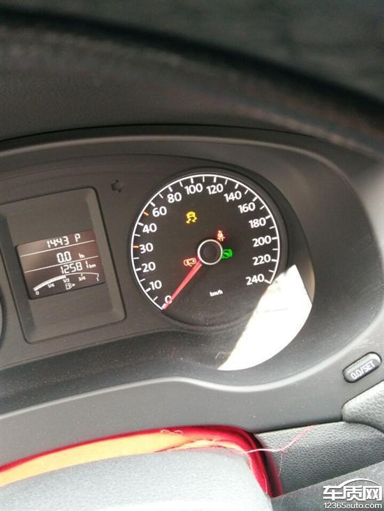 大众胎压报警标志图片_一汽大众速腾ESP和胎压报警故障灯亮 - 车质网
