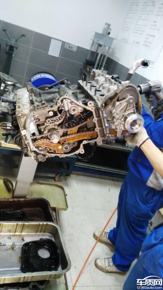 上海大众途观4s店发动机小问题大修