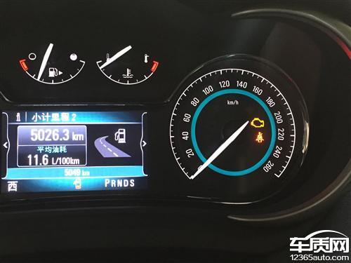 上海通用别克君越新车发动机故障灯亮高清图片