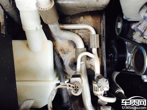 上海大众帕萨特发动机漏油高清图片
