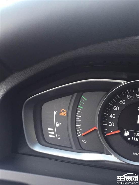 沃尔沃v60烧机油发动机故障灯亮