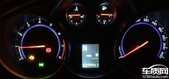 雪佛兰科鲁兹发动机控制系统故障灯亮