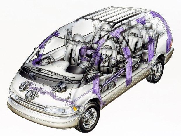 二十年前的高级进口mpv 丰田大霸王