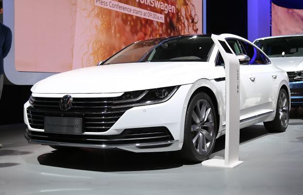 依旧是最美大众车 车展实拍大众新一代CC
